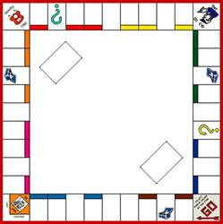 monopoly template board template monopoly board