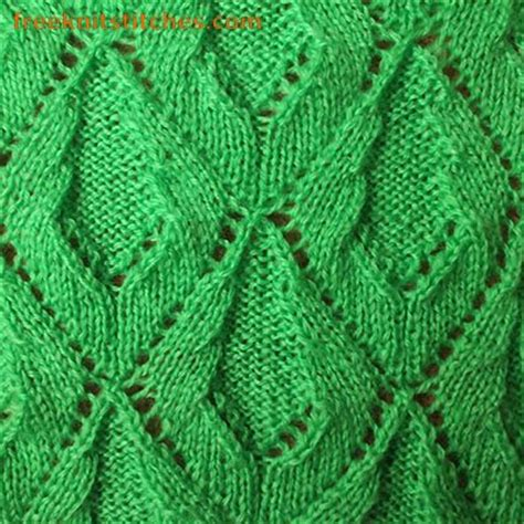 leaf stitch knitting knit leaves pattern creeper