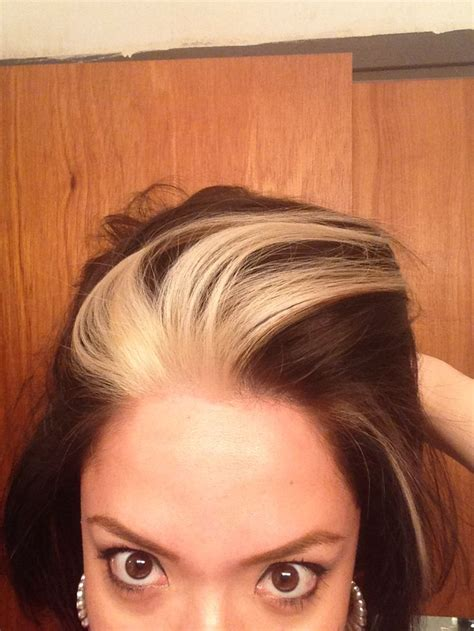 pictures of dark hair with blonde chunks brown with blonde chunks