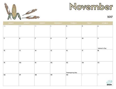 printable november 2017 calendar with lines 2017 printable calendar for kids imom