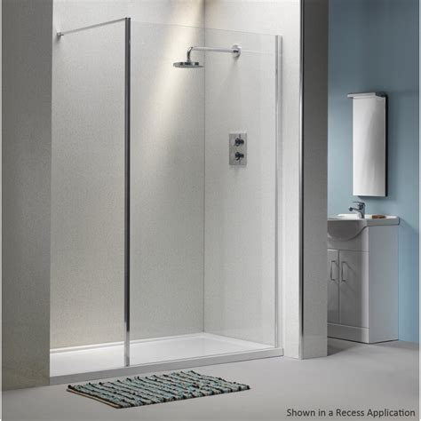 Classic 6mm Shower Wall With Easy Clean Glass Classic Easy Clean Shower Doors