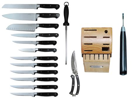 Kitchen Knife Collection by Tsu 15 Piece Kitchen Knife Set With Block Heavenly Swords