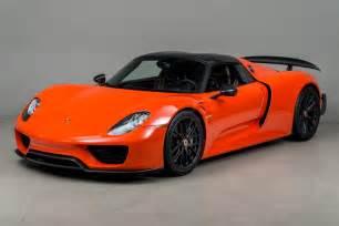 Orange Porsche Gallery Continental Orange Porsche 918 Weissach