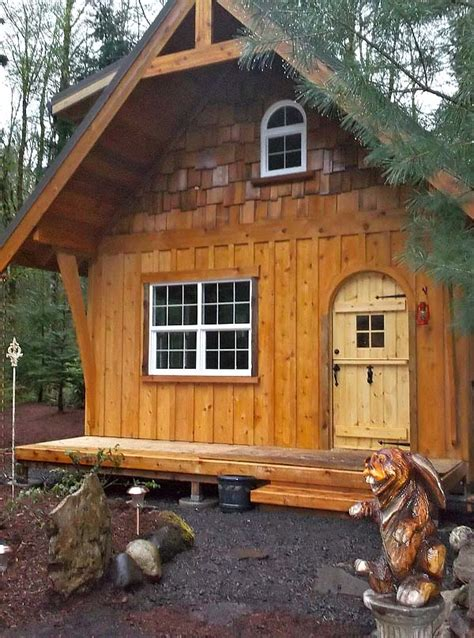 Small Two Story Cabin by Tiny Wish House