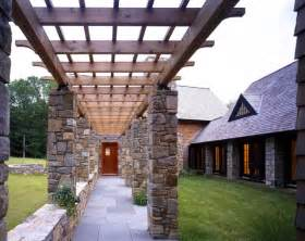 Cape Cod Home Plans Entry Pergola Eclectic Entry New York By Ike