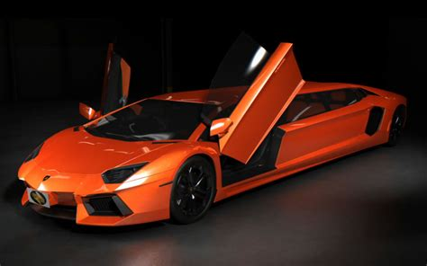5 Door Lamborghini Lamborghini Aventador Stretch Limo Concept Has The