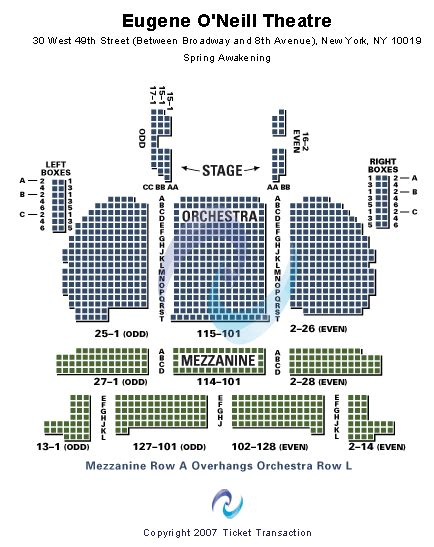 eugene oneill theatre seating views book of mormon tickets seating chart eugene o neill