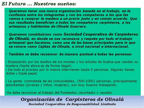 el futuro de nuestra organizacion de carpinteros de olinala 9 el futuro de nuestra organizaci 243 n cooperativa