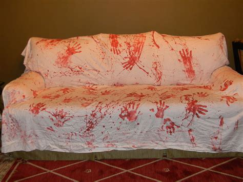 halloween couch cover bloody handprints couch cover halloween decoration by
