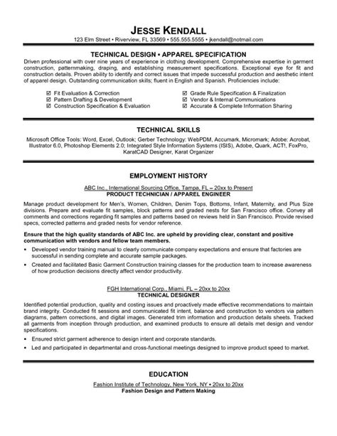 technical resume formats top 10 collection technical resume exles resume