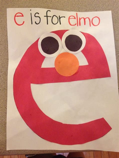 letter e crafts for e is for elmo lowercase letter e craft for my