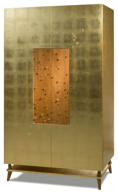 armoire contemporary gold leaf gotas armoire contemporary armoires and wardrobes houston by rotsen