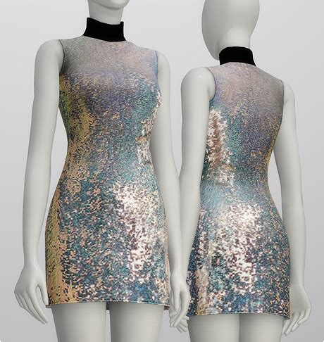 s4 sequined silk turtleneck dress by 3 1 phillip lim 4