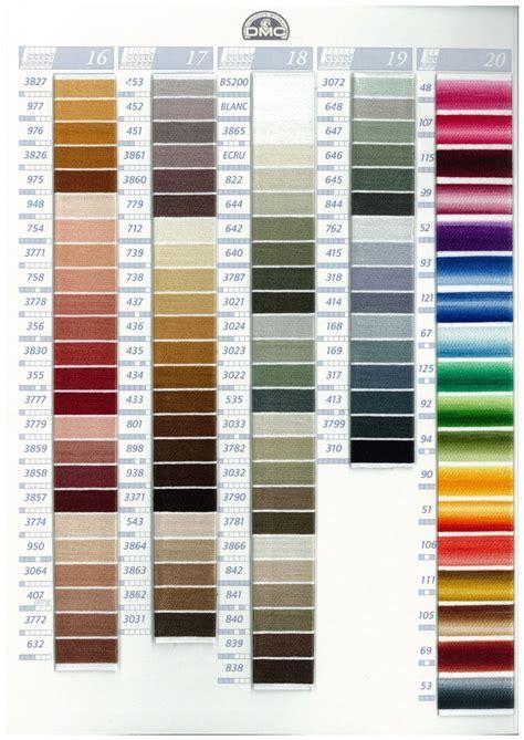 dmc thread colors dmc stranded cotton embroidery thread colour chart
