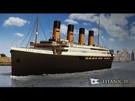 titanic vs big boat titanic ii to set sail in 2018 do you dare youtube
