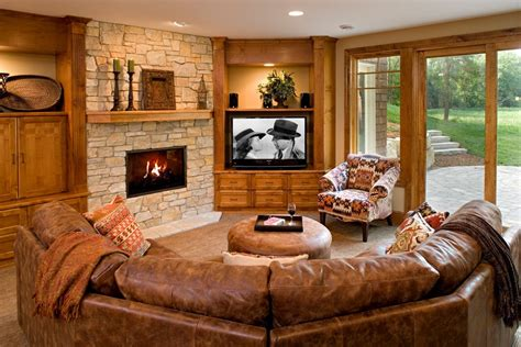 Leather In Living Room by Brown Leather Sectional Living Room Transitional With Sofa