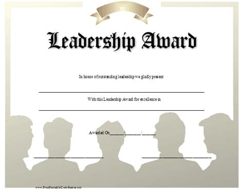 leadership award certificate template leadership quotes for awards quotesgram