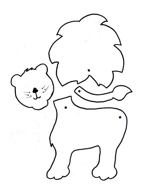 Early Play Templates Making Lion Masks And Lion Paper Creations Arts And Crafts Templates