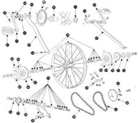 schwinn airdyne parts diagram bicycle gear cogwheel sprocket symbols stock vector