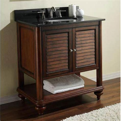 24 Bathroom Vanity With Granite Top Tropica 24 Inch Antique Brown Vanity With Black Granite Top And Undermount Sink