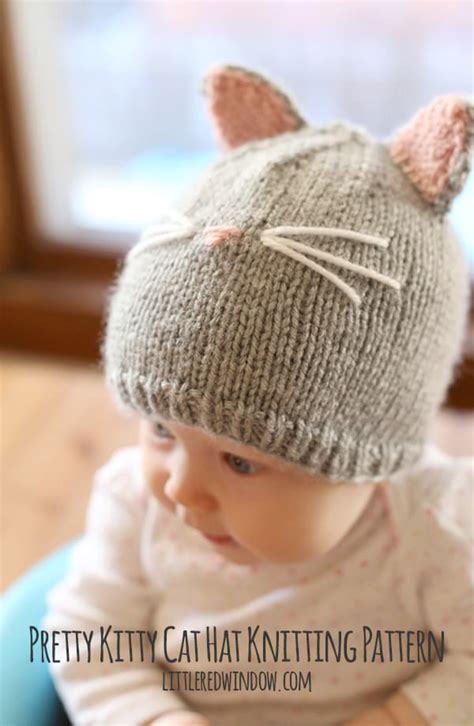 Pretty Cat Hat Knitting Pattern Window