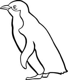 Penguin Clipart Outline penguin outline clip at clker vector clip royalty free domain