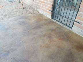 Stained Concrete Patio Designs by Tucson Concrete Overlay Decorative Concrete Flooring