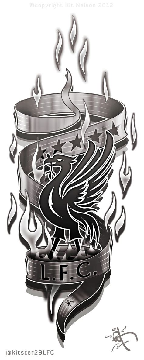 liverpool tattoo liverpool football club leg design ideas