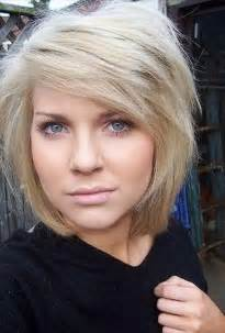 Cute bob haircut with bangs for thick hair hairstyles weekly