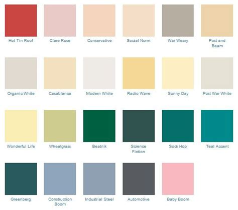 modern colour schemes 13 best images about mid century paint colors on pinterest