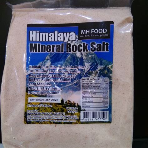 Garam Himalaya Kasar 500gr Diet Keto mh food himalaya mineral rock salt garam gunung himalaya 500 gr jual makanan diet sehat