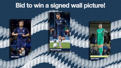 bid to win bid to win a signed wall picture news southend united