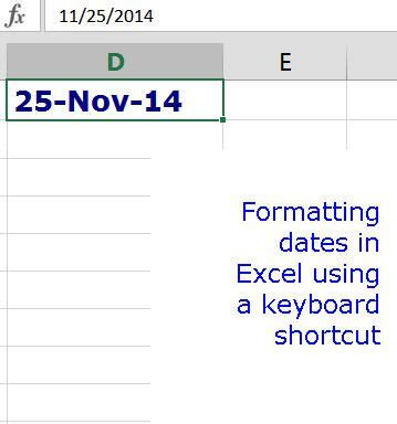 format date rails 4 add the current date time in excel using shortcut keys