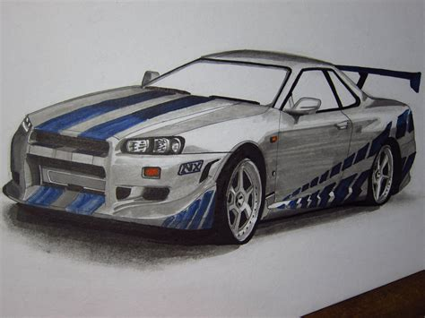 nissan skyline r34 paul walker nissan skyline r34 gtr paul walker by v3110z on deviantart