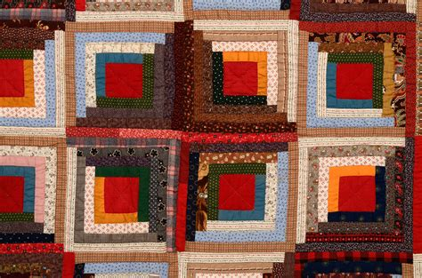 Cabin Raising Quilt by Calico Barn Raising Log Cabin Quilt For Sale At 1stdibs