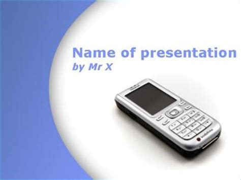 Cellphone Powerpoint Templates Cell Phone Powerpoint Template