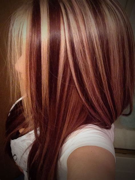 17 best ideas about red low lights on pinterest red red brown hair with blonde highlights hair color red with