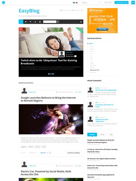 review responsive joomla template for portfolio ja