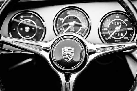 porsche wheel emblem porsche c steering wheel emblem 1227bw photograph by