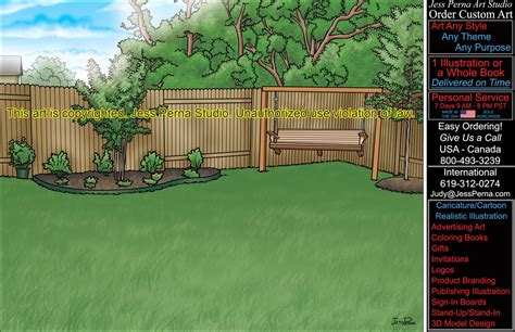 backyard cartoon how to order ad cartoons and caricatures from a freelance