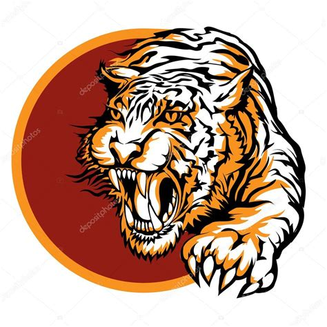 tiger pattern logo roaring tiger logo design stock vector 169 gertot1967