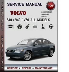 volvo s40 v40 v50 service repair manual download info