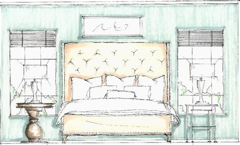interior design section drawings bedroom sketch
