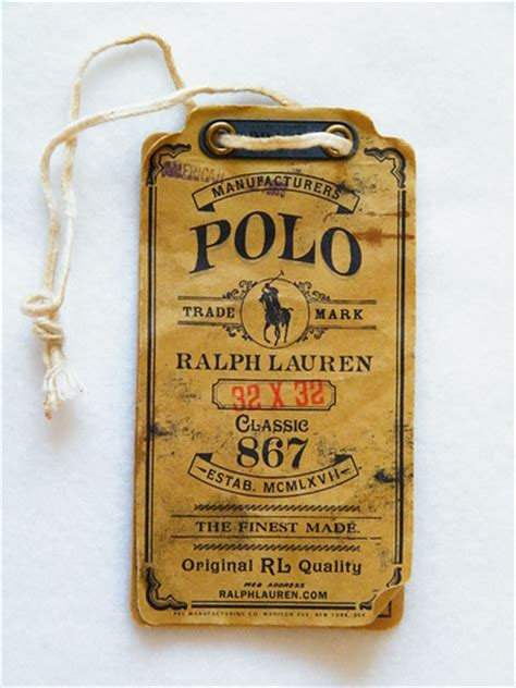 vintage swing tags aaron morris graphic design ralph lauren polo swing