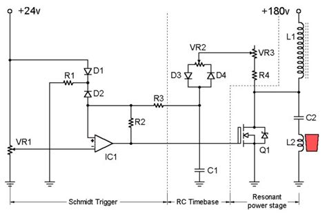 induction heater diagram diy induction heating circuit schematic diy free engine image for user manual
