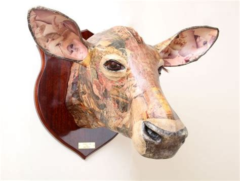 How To Make A Paper Mache Cow - 17 best images about the best cattle sculptures and