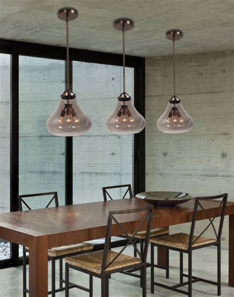 Industrial Style Dining Room Lighting Industrial Chic Transitional Dining Room New York By We Got Lites