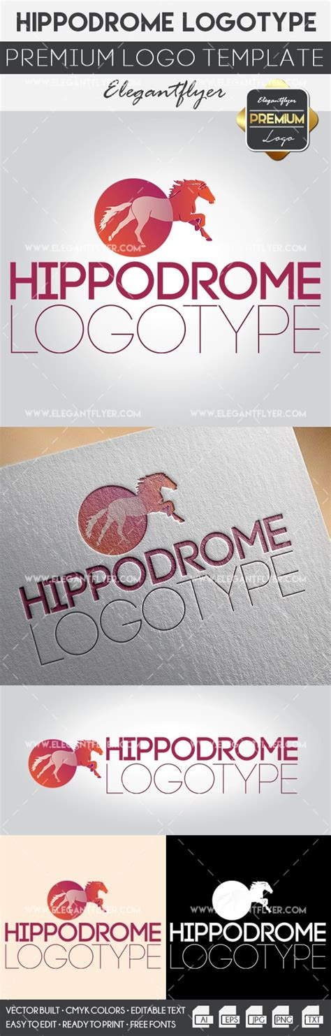 Hippodrome Premium Logo Template By Elegantflyer Premium Logo Templates