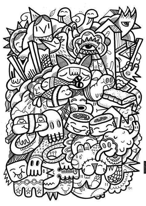 crazy patterns coloring pages best photos of kawaii coloring pages crazy pattern