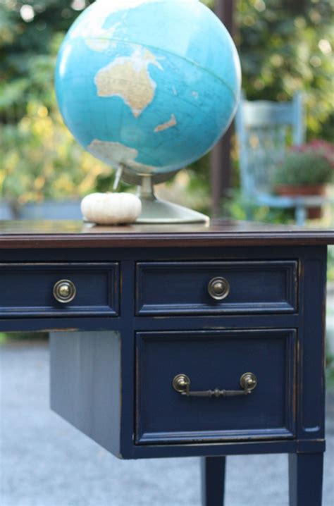 coastal blue  java gel vintage desk